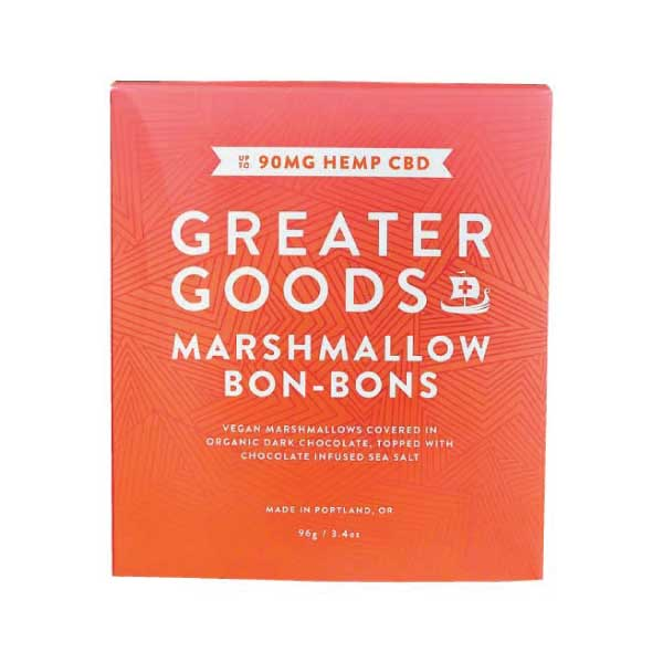 Greater Goods CBD Bon Bons Dark Chocolate Sea Salt CBD Edibles