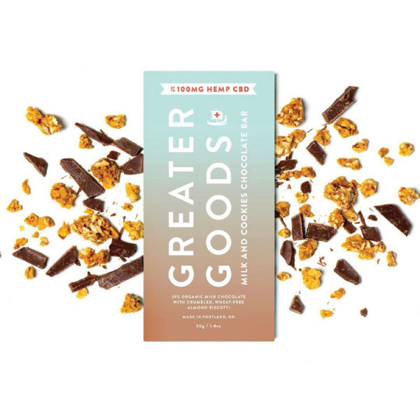Milk and Cookies Chocolate Bar | Greater Goods